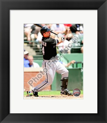 Framed Paul Konerko 2010 Action Print
