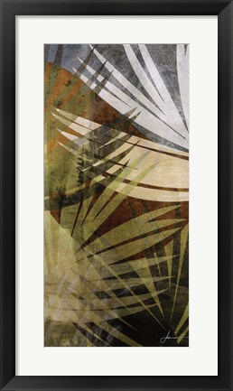 Framed Palm Frond II Print