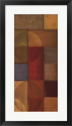 Framed Abstraction In Color II Print