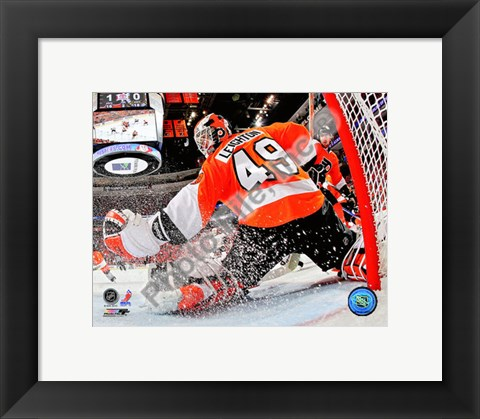 Framed Michael Leighton 2009-10 Playoff Action Print