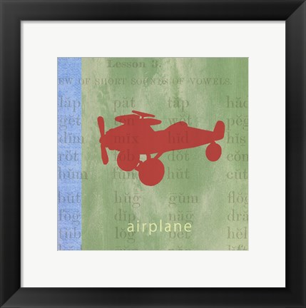 Framed Vintage Toys Airplane Print