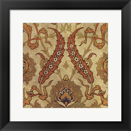 Framed Persian Tiles III Print