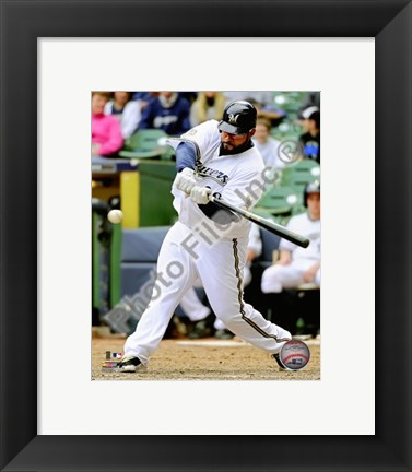 Framed Prince Fielder 2010 Action Print