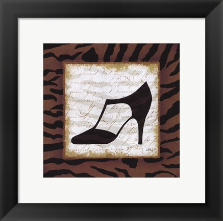 Framed Safari Shoes III Print