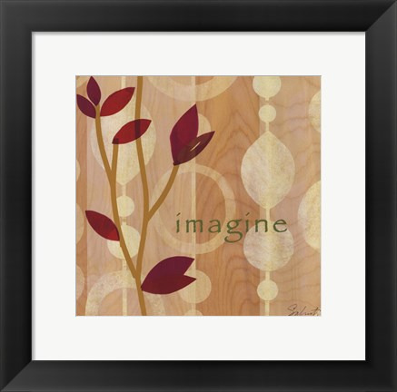 Framed Imagine Leaves Print