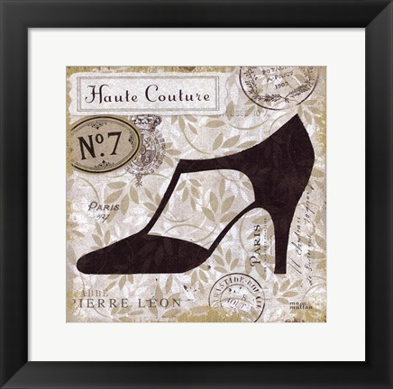 Framed Chaussures III Print