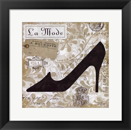Framed Chaussures IV Print
