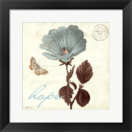 Framed Touch of Blue III- Hope Print