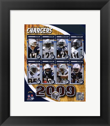 Framed San Diego Chargers 2009 Print