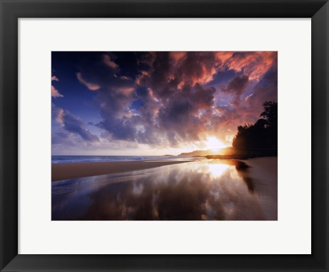 Framed Sunset And Clouds Print