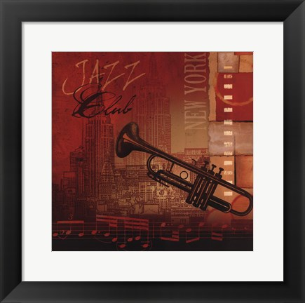 Framed Jazz Club Print