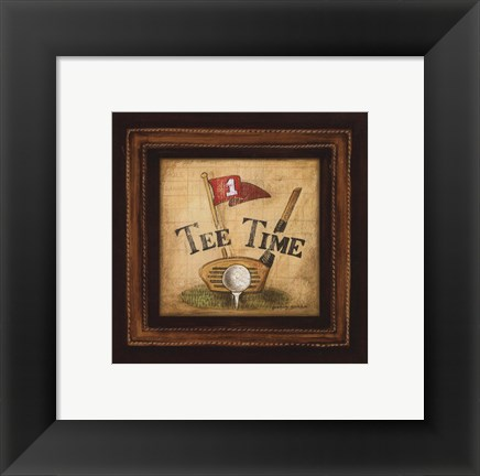 Framed Golf Tee Time - petite Print