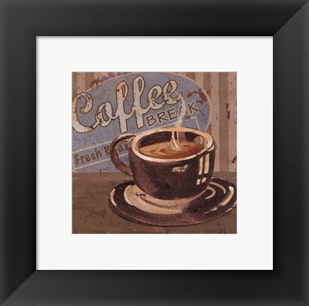 Framed Coffee Brew Sign I - petite Print