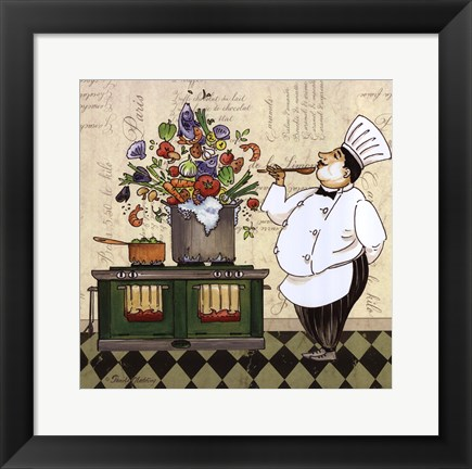 Framed Chef Soup Print