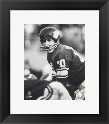 Framed Fran Tarkenton - Action Print