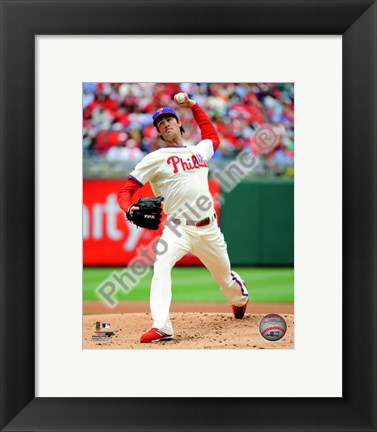 Framed Cole Hamels 2010 Action Print