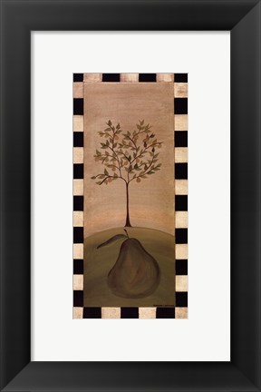 Framed Country Pear Print