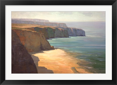 Framed Cliffs Print