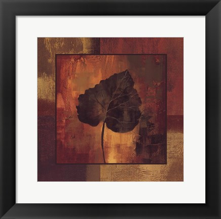 Framed October Leaf III Print