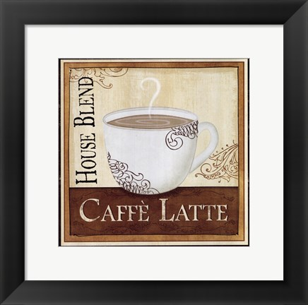 Framed Coffee and Cream I Print