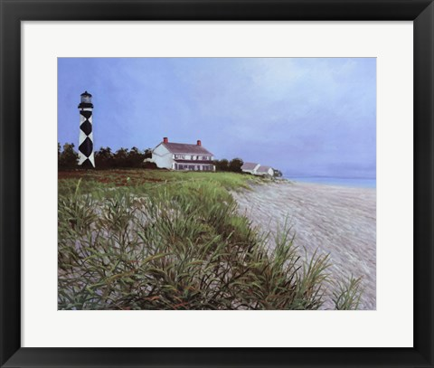 Framed Lookout On The Shore Print