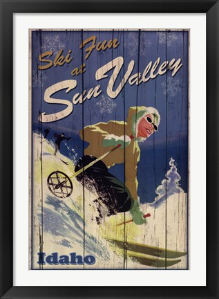 Framed Ski Sun Valley Print