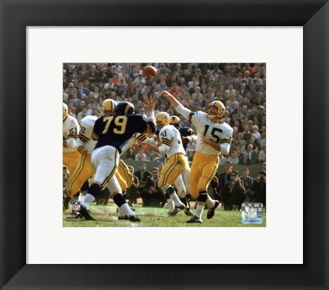 Framed Bart Starr 1962 Action Print