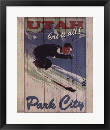 Framed Ski Park City Print