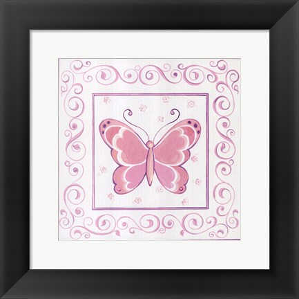 Framed Butterfly I Print