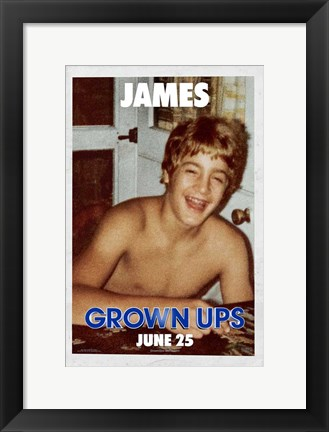 Framed Grown Ups - James Print