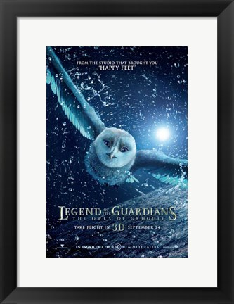 Framed Legend of the Guardians: The Owls of Ga'Hoole Print