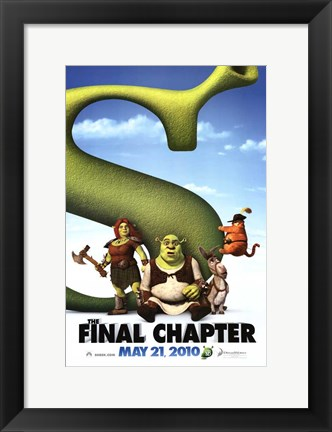 Framed Shrek Forever After - Style D Print