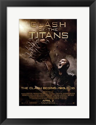 Framed Clash of the Titans - Style E Print
