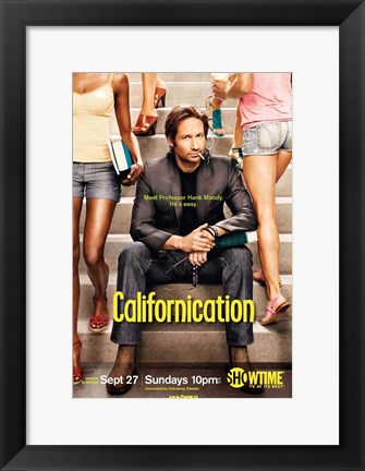 Framed Californication - sitting on steps Print