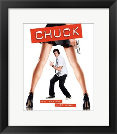 Framed Chuck Not Shaken. Just Nerd. Print
