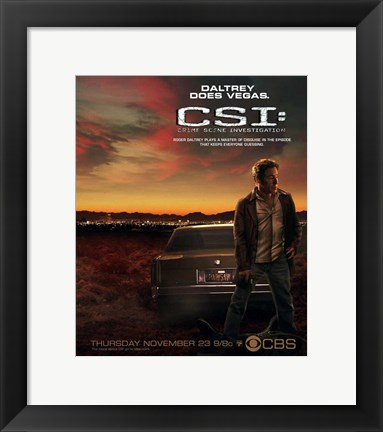 Framed CSI: Crime Scene Investigation Print