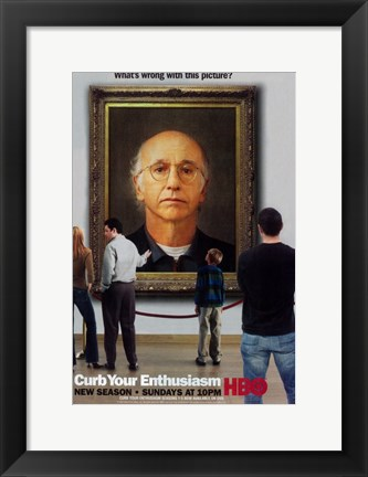 Framed Curb Your Enthusiasm Art Spoof Print