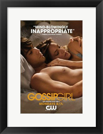 Framed Gossip Girl - Mind Blowingly Inappropriate Print