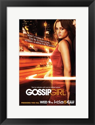 Framed Gossip Girl Blair Waldorf Print