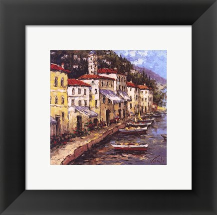 Framed Port To Lucca I Print