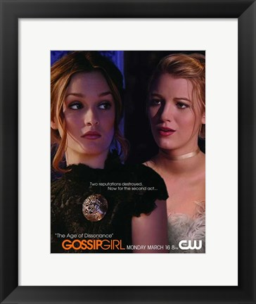 Framed Gossip Girl - The Age of Dissonance Print