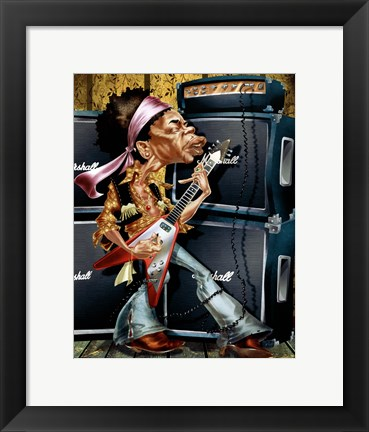 Framed Young Guitarist Print