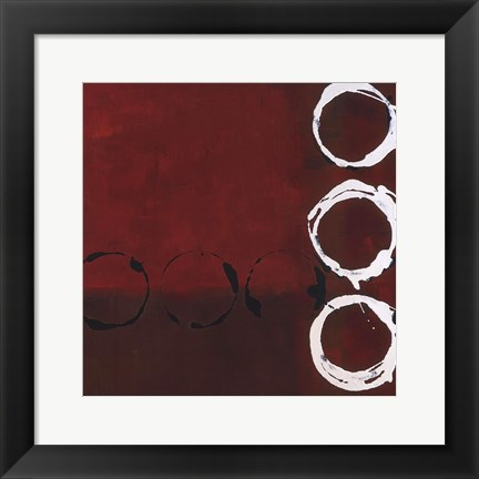 Framed Red Circles II Print