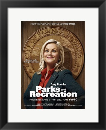 Framed Parks and Recreation Print