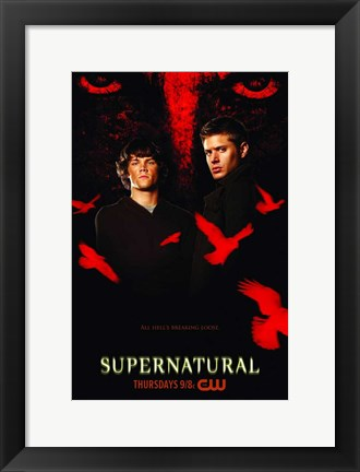 Framed Supernatural (TV) Black and Red Print