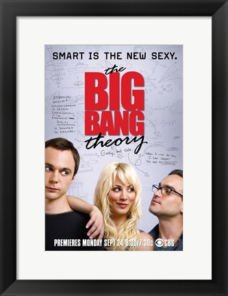 Framed Big Bang Theory - smart is the new sexy Print