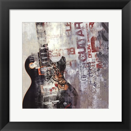 Framed Rock N Roll II Print