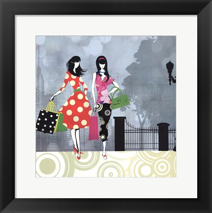 Framed Girls Gone Shopping Print