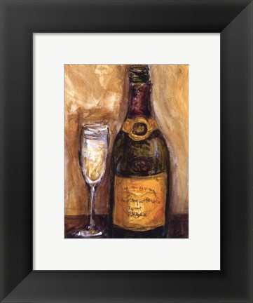 Framed French Champagne Print