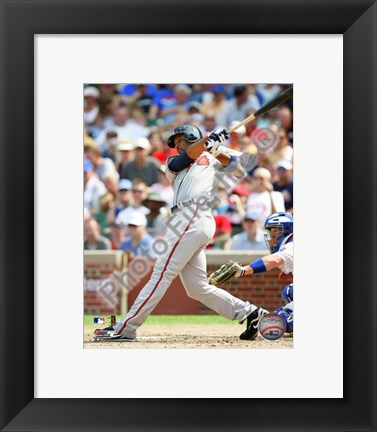Framed Derrek Lee 2010 Action Print